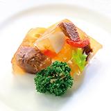 牛タンと野菜のアスピック