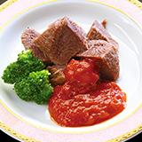 牛タンスープ煮トマトソース